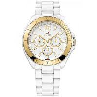 Tommy Hilfiger Uhr 1781428 Dylan Damenuhr Weiß Gold Kunststoff Datum NEU & OVP