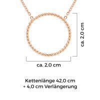 Mendozza Kette MJ-NE03340L Damen Collier Roségold Ring Anhänger