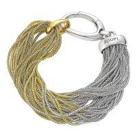 Joop Armband JPBR90329A195 Damen 925er Sterling Silber Gold Logo Women NEU & OVP
