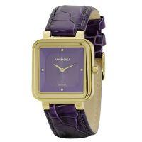 Pandora Damen Uhr 812032PE Leder Armband Lila Gold Lady Watch NEU & OVP