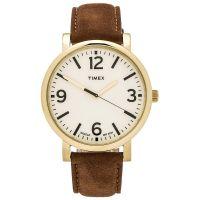 Timex Uhr T2P527 ORIGINALS Oversize Herrenuhr Leder Braun Weiß Watch NEU & OVP