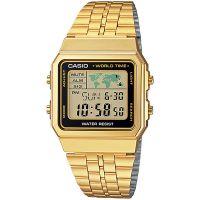Casio Uhr A500WGA-1DF Retro Digitaluhr Armbanduhr Herren Damen Gold NEU & OVP
