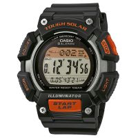 Casio Uhr STL-S110H-1A Herren Digital Armbanduhr Schwarz Orange Solar NEU & OVP