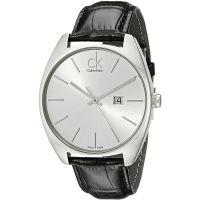 Calvin Klein Uhr K2F21120 Herren Leder Silber Schwarz Swiss Made Men NEU & OVP