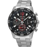 Seiko Uhr SSB129P1 Herrenuhr Chronograph Silber Edelstahl Datum Watch NEU & OVP