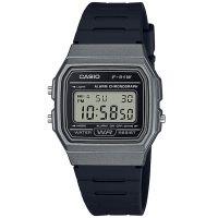 Casio Uhr F-91WM-1BDF Digital Armbanduhr Herren Damen Schwarz Silber NEU & OVP
