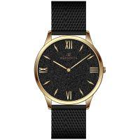 Mendozza Uhr MW-GG0204H-BM Black Sand Armbanduhr Schwarz Gold