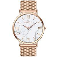 Mendozza Uhr MW-OR0300H-RM White Marble Marmor Armbanduhr Roségold