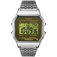 Timex Uhr TW2P58500 TIMEX 80 Vintage Men Unisex Digital Silber Watch NEU & OVP
