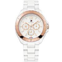 Tommy Hilfiger Uhr 1781429 Damenuhr Weiß Gold Armbanduhr Lady Watch NEU & OVP