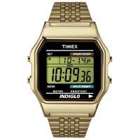 Timex Uhr TW2P48200 TIMEX 80 Vintage Herren Damen Digital Gold Schwarz NEU & OVP