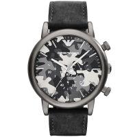 Emporio Armani Uhr AR1816 Herrenuhr Camouflage Leder Chronograph Watch NEU & OVP