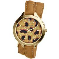 Michael Kors Uhr MK2327 Runway Damenuhr Gold Braun Leder Double Wrap NEU & OVP