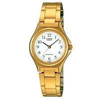 Casio Damenuhr LTP-1130N-7B Armbanduhr Edelstahl Weiß Gold watch NEU & OVP