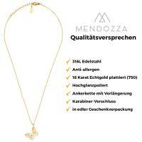 Mendozza Kette MJ-NE02500L Damen-Kette Schmetterling Anhänger Gold