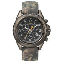 Timex Uhr T49987 EXPEDITION Rugged Herren Chronograph Leder Camouflage NEU & OVP