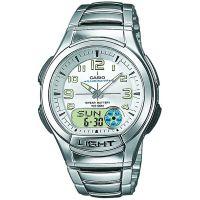 Casio Uhr AQ-180WD-7BVES Analog Digital Herren Edelstahl Silber Watch NEU & OVP