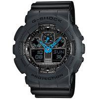 Casio G-Shock Herrenuhr GA-100C-8A Armbanduhr Digital Analog Grau Blau NEU & OVP