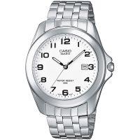 Casio Uhr MTP-1222A-7BVEF Herren Armbanduhr Edelstahl Weiß Datum Men NEU & OVP