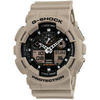 Casio G-Shock Herrenuhr GA-100SD-8A Armbanduhr Digital Analog Sand NEU & OVP
