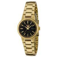 Seiko 5 Lady Uhr SYME48K1 Damen Automatikuhr Gold Schwarz Watch NEU & OVP