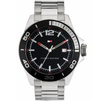 Tommy Hilfiger Uhr 1790932 Herren Silber Schwarz Edelstahl Armbanduhr NEU & OVP