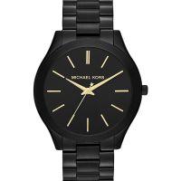 Michael Kors Uhr MK3221 Runway Unisexuhr Schwarz Gold Edelstahl Watch NEU & OVP