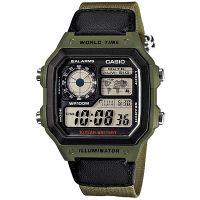 Casio Digitaluhr AE-1200WHB-3B Armbanduhr Herren Grün Weltzeit Army NEU & OV