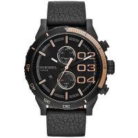 Diesel Uhr DZ4327 Herrenuhr XXL Chronograph Black Roségold Leder Watch NEU & OVP