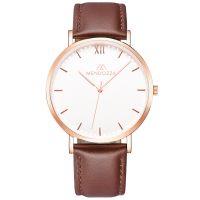 Mendozza Uhr MW-RR0300H-ON White Moon Armbanduhr Leder Weiß Roségold