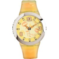 Fiorucci Uhr FR070_2 Kinderuhr Mädchen Gelb Orange Children's Watch NEU & OVP