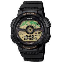 Casio Digitaluhr AE-1100W-1B Armbanduhr Herren Schwarz Weltzeit Sport NEU & OVP
