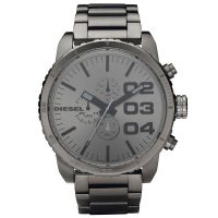Diesel Uhr DZ4215 Herrenuhr XXL Chronograph Grau Edelstahl Watch NEU & OVP