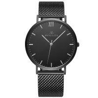 Mendozza Uhr MW-RS0404H-BM Midnight Black Armbanduhr Schwarz Silber