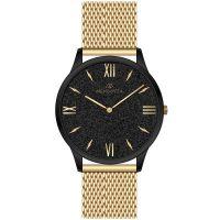 Mendozza Uhr MW-GG0404H-GM Black Sand Armbanduhr Schwarz Gold