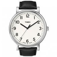Timex Uhr T2N338 ORIGINALS Oversize Herrenuhr Leder Weiß Schwarz Watch NEU & OVP