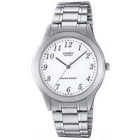 Casio Uhr MTP-1128PA-7B Herren Armbanduhr Edelstahl Silber Weiß Watch NEU & OVP