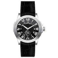 Cerruti 1881 Uhr CRA025A222B Herrenuhr Leder Schwarz Silber Watch Men NEU & OVP