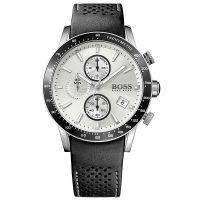 Hugo Boss Uhr 1513403 Herren Chronograph Leder Schwarz Edelstahl Watch NEU & OVP