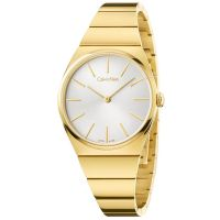 Calvin Klein Uhr K6C2X546 Supreme Damen Edelstahl Gold Swiss Made NEU & OVP