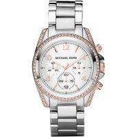 Michael Kors Uhr MK5459 Damenuhr Silber Strass Edelstahl Chronograph NEU & OVP
