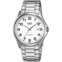 Casio Uhr MTP-1183PA-7B Herren Armbanduhr Edelstahl Silber Weiß Datum NEU & OVP