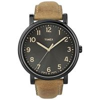 Timex Uhr T2N677 ORIGINALS Oversize Herren Leder Braun Schwarz Watch NEU & OVP
