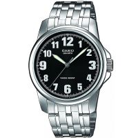 Casio Uhr MTP-1260PD-1B Herren Armbanduhr Edelstahl Schwarz Silber Men NEU & OVP