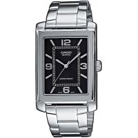 Casio Uhr MTP-1234PD-1A Herren Armbanduhr Edelstahl Schwarz Silber Men NEU & OVP