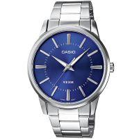 Casio Uhr MTP-1303PD-2A Herren Edelstahlarmband Silber Blau Watch Men NEU & OVP