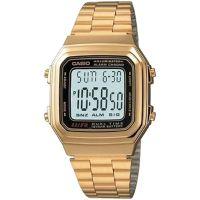 Casio Uhr A178WGA-1A Retro Digitaluhr Armbanduhr Herren Damen Gold NEU & OVP