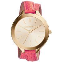 Michael Kors Uhr MK2332 Damenuhr Gold Double Wrap Leder Armband Slim NEU & OVP