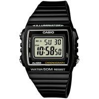 Casio Digitaluhr W-215H-1A Armbanduhr Herren Damen Schwarz Silber NEU & OVP