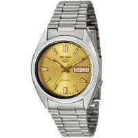 Seiko 5 Gent Uhr SNXS81K Automatikuhr Silber Gold Herrenuhr Watch Men NEU & OVP